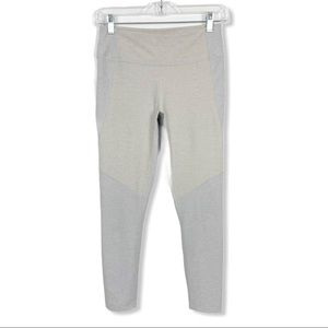 Outdoor Voices Warmup Leggings Small Gray Tan